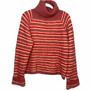 NA-KD Wool Mohair Striped Turtleneck Swetaer